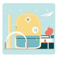 Vektor zurück zu Schule Zubehör