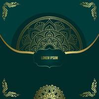 luxuriöser dekorativer Mandala-Hintergrund mit Arabisch vektor