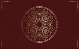 Luxus Gold Mandala verzierten Hintergrund vektor