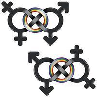 lgbt Symbol durch Unendlichkeit vereint vektor