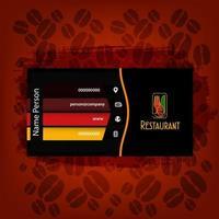 Kartenpräsentationsrestaurant vektor