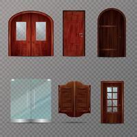 Eingangstüren setzen Vektorillustration vektor
