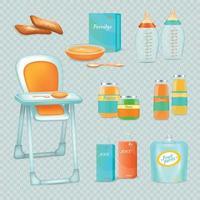 Fütterung Säugling Set Vektor-Illustration vektor