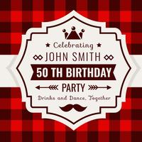 Geburtstags-Einladung Buffalo Plaid Style vektor