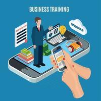 isometrische Webinar Business Training Konzept Vektor-Illustration vektor
