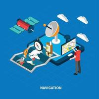 isometrische Illustration der Navigationsvektorillustration vektor