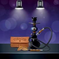 realistische farbige Tabakzusammensetzung Vektorillustration vektor