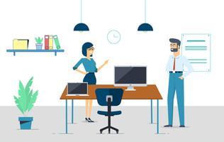 Vektor-Büro-Raum-Illustration vektor