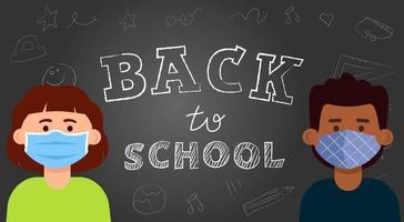 das Konzept, die Schüler nach der Sperrung wieder zur Schule zu bringen vektor
