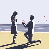 Förlovningsförslag vektor