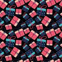 nahtlose Muster Geschenkboxen vektor