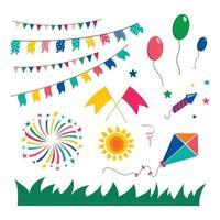 festa junina dekorationsset vektor