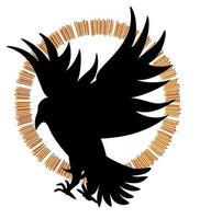 Vektorbild von Silhouetten von Vögeln im Flug vektor
