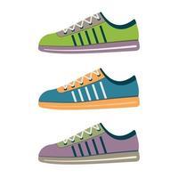 orange Sportschuhe Laufschuh Sneaker lokalisiert auf weißem Hintergrund vektor