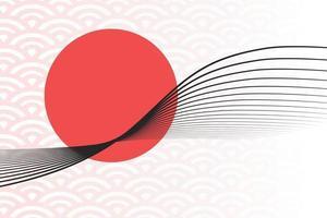 Linienmuster im asiatischen Stil mit japanischem Muster vektor