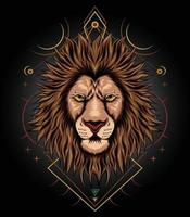 lejon konstverk designmall för t-shirt kläder kläder och varor vektor