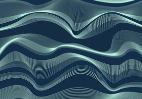 Hintergrund und Textur des blauen Meeresmusters der abstrakten Welle oder der Wellenlinie vektor