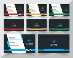 Corporate und kreative Visitenkarte Design moderne und professionelle Visitenkarte Design einfache und abstrakte Visitenkarte Visitenkarte Design-Vorlage vektor