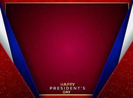 Papierschnitt Luxus Präsident Tag Hintergrund vektor