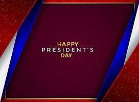 Luxus abstrakter Präsidententag Hintergrund vektor