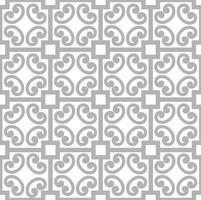 nahtloses geometrisches Muster der abstrakten asiatischen asiatischen Verzierung mit Wirbellinienverzierung im orientalischen Stil vektor