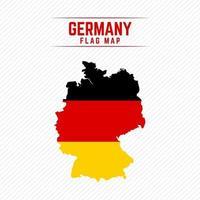 Flaggenkarte von Deutschland vektor