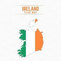 Flaggenkarte von Irland vektor