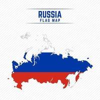 Flaggenkarte von Russland vektor