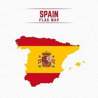 Flaggenkarte von Spanien vektor
