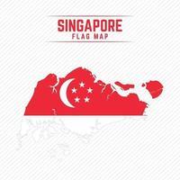 Flaggenkarte von Singapur vektor