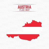 Flaggenkarte von Österreich vektor