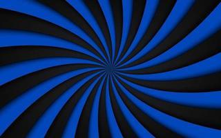 Schwarzer und blauer Spiralhintergrund, der radiale Musterabstrakte Vektorillustration wirbelt vektor