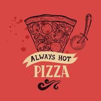 Pizza Poster für Restaurant und Cafe vektor