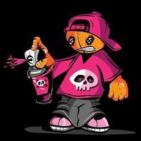 Voodoo-Puppe Typ Charakter sprühen Sprühfarbe vektor