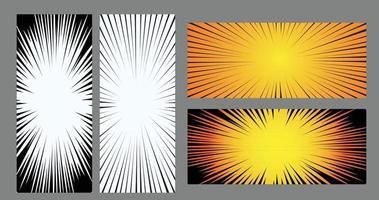 Comic Zoom Geschwindigkeit Vektor Design
