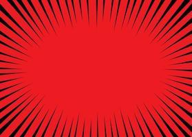 roter Comic-Zoomgeschwindigkeitsvektorentwurf vektor