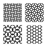Laserschneidmuster und islamisches Musterdesignvektor vektor