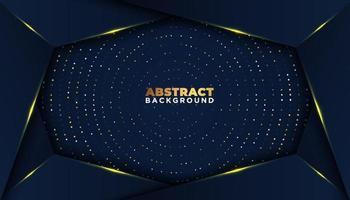 dunkler abstrakter Hintergrund mit Überlappungsschichten goldenes Glitzern Punktelementdekorations-Luxusdesignkonzept vektor