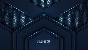 dunkler abstrakter Hintergrund mit Überlappungsschichten Luxus-Designkonzept vektor
