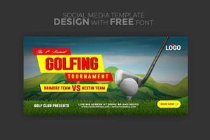 Vektor-Design-Banner-Web-Vorlage für Sportereignis vektor