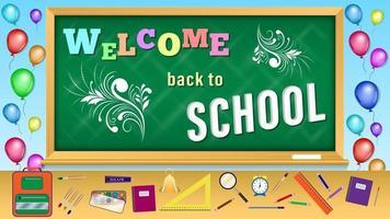 Willkommen zurück in der Schule vektor