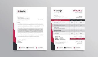 företags affärsidentitet eller brevpapper design med brevpapper och fakturamall vektor
