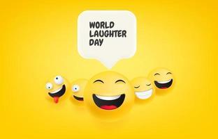 lachende Gesichter mit Sprechblase vektor