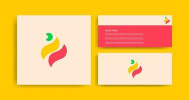 kreative Logo-Vorlagen mit Visitenkarte vektor