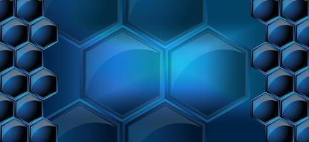 Vektorbild von Waben in neonblauer Farbe vektor