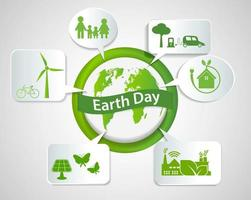 Tag der Erde Konzept vektor