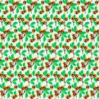 Nahtloses Muster der Vektor-Eicheln