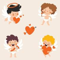 Liebeskonzept mit Zeichentrickfigur vektor