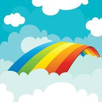 Konzept eines bunten Regenbogens vektor