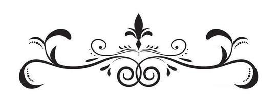 dekoratives Gestaltungselement der Blumenhand gezeichneten Rahmengrenze vektor